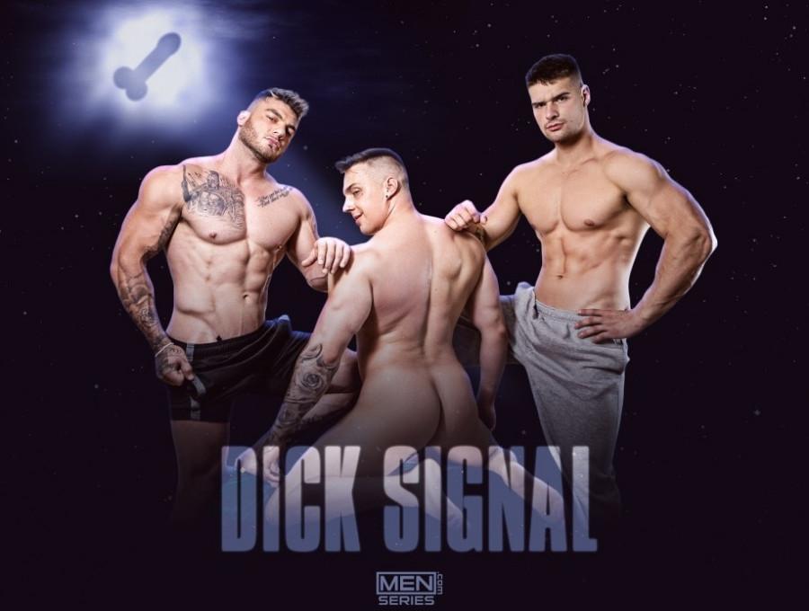 MEN - William Seed, Ace Quinn & Malik Delgaty - Dick Signal Uncut