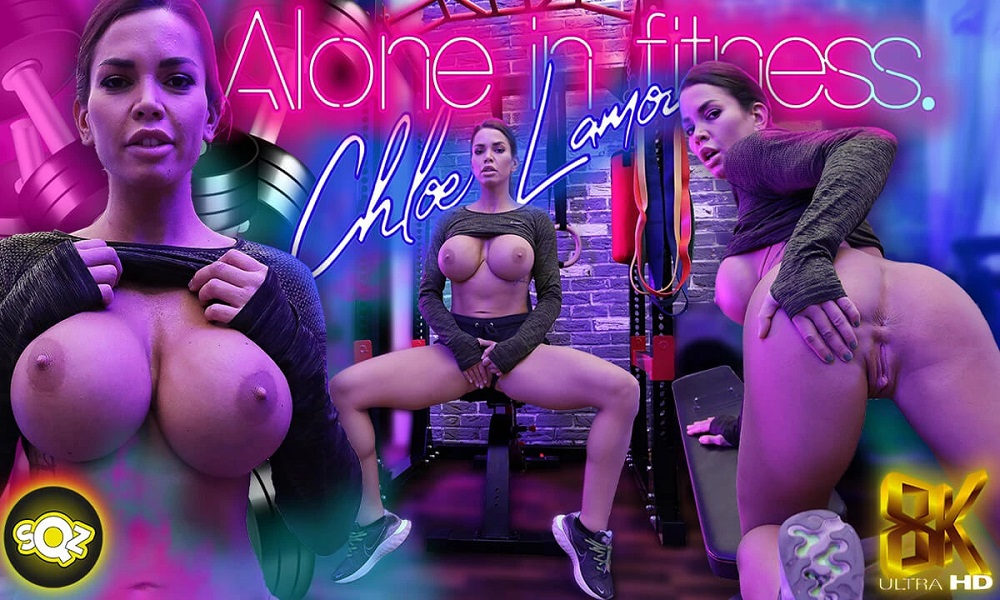 Alone in Fitness, Chloe Lamour, 23 June, 2021, 3d vr porno, HQ 3840