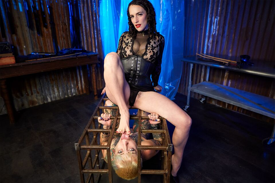 The Lezdom Cage Dominion, Mistress Blunt, Little Spittle, July 15, 2021, 3d vr porno, HQ 2700