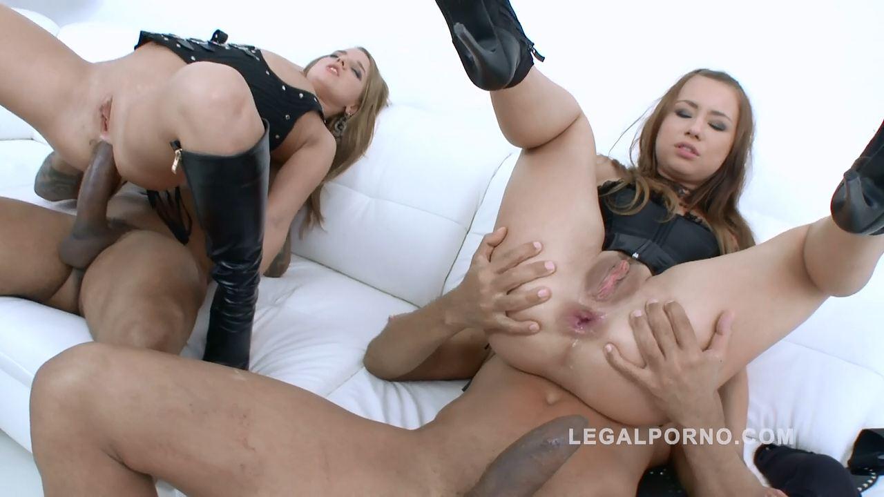 Horny sluts Sofie Goldfinger & Taylor Sands interracial anal DP foursome SZ104 - LegalPorno