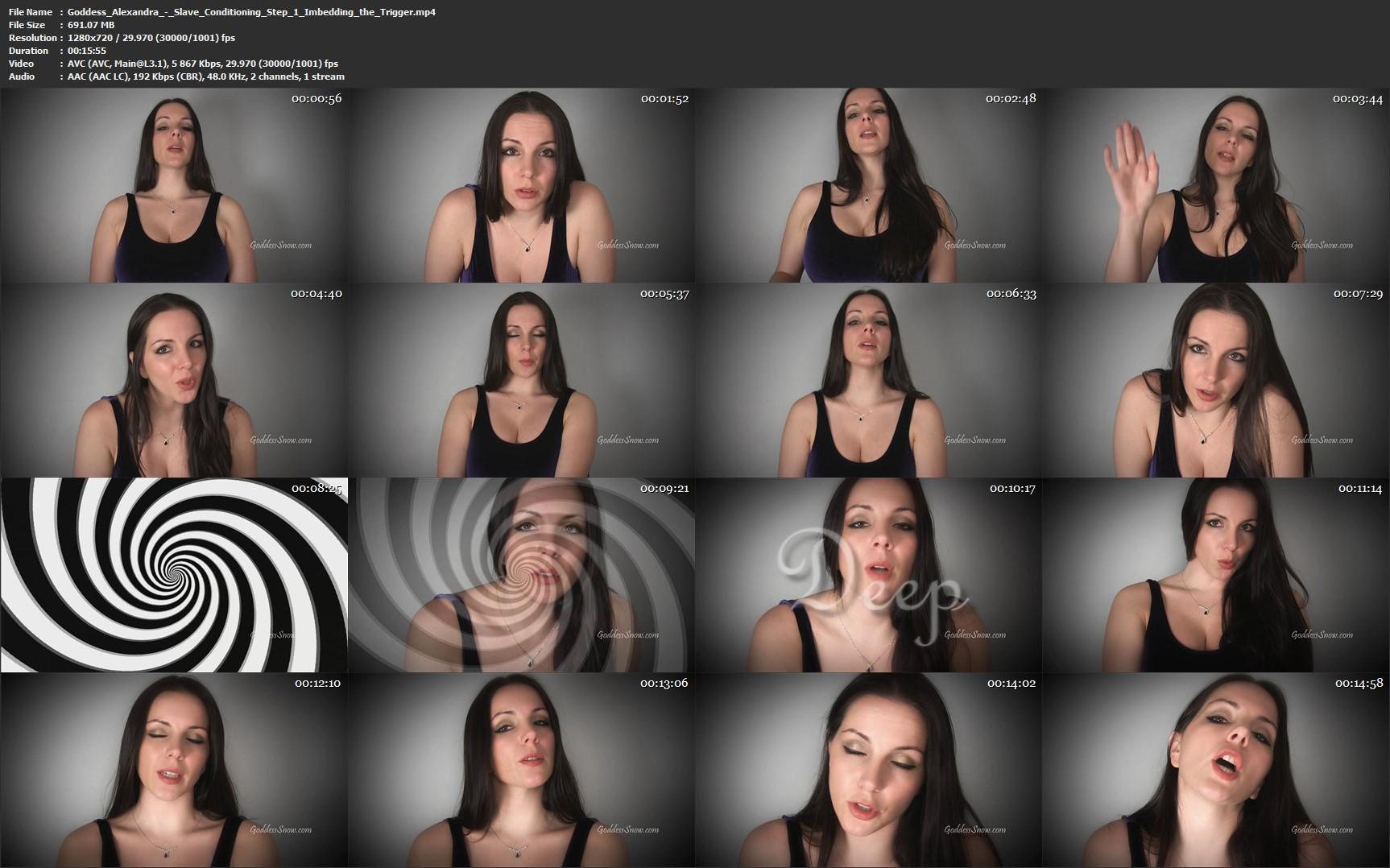 Goddess Alexandra Show - Slave Conditioning Step 1 Imbedding the Trigger