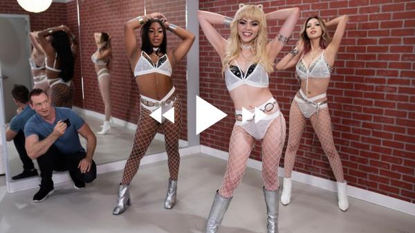 Kate Zoha, Selene Santos and Pierce Paris - Shemale Bareback Threesome fuck - Fuck-A-Fan (2021 / FullHD 1080p)