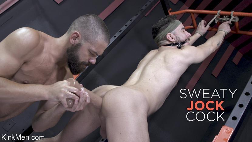 KinkMen - Sweaty Jock Cock Jack Beam Reams Alessio Vega's Hole