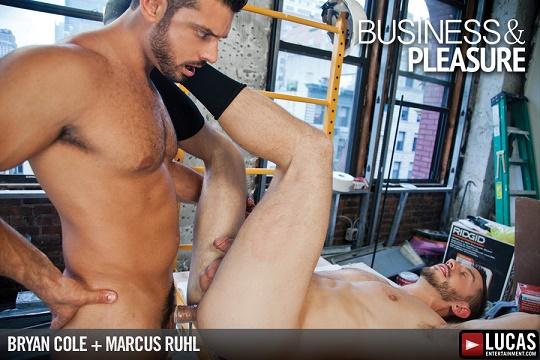 LE - Business & Pleasure -  Bryan Cole Takes Marcus Ruhl's Blue-Collar Cock