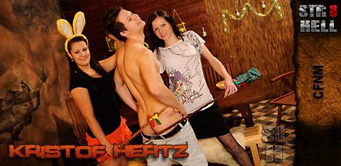 STR8Hell - CFNMEurope - Kristof Hertz - CFNM - Bunny Bashing