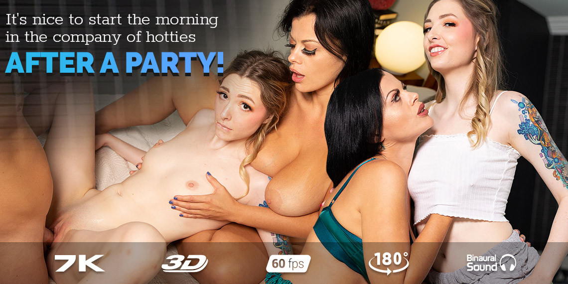 Threesome: After Party, Nadia White, Ailee Anne, October 4, 2021, 3d vr porno, HQ 3584