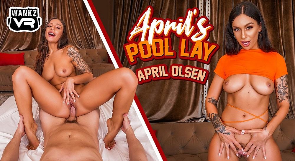 April's Pool Lay, April Olsen, 12 October, 2021, 3d vr porno, HQ 3600