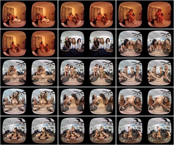 August Ames, Karlee Grey, Keisha Grey, Layla London - Sizzer Sisters, 04.30.2016, Virtual Reality, FullHD/UltraHD, 900p/1800p