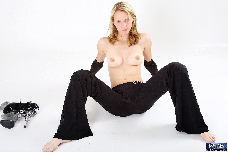 Blonde pornstar outdoors