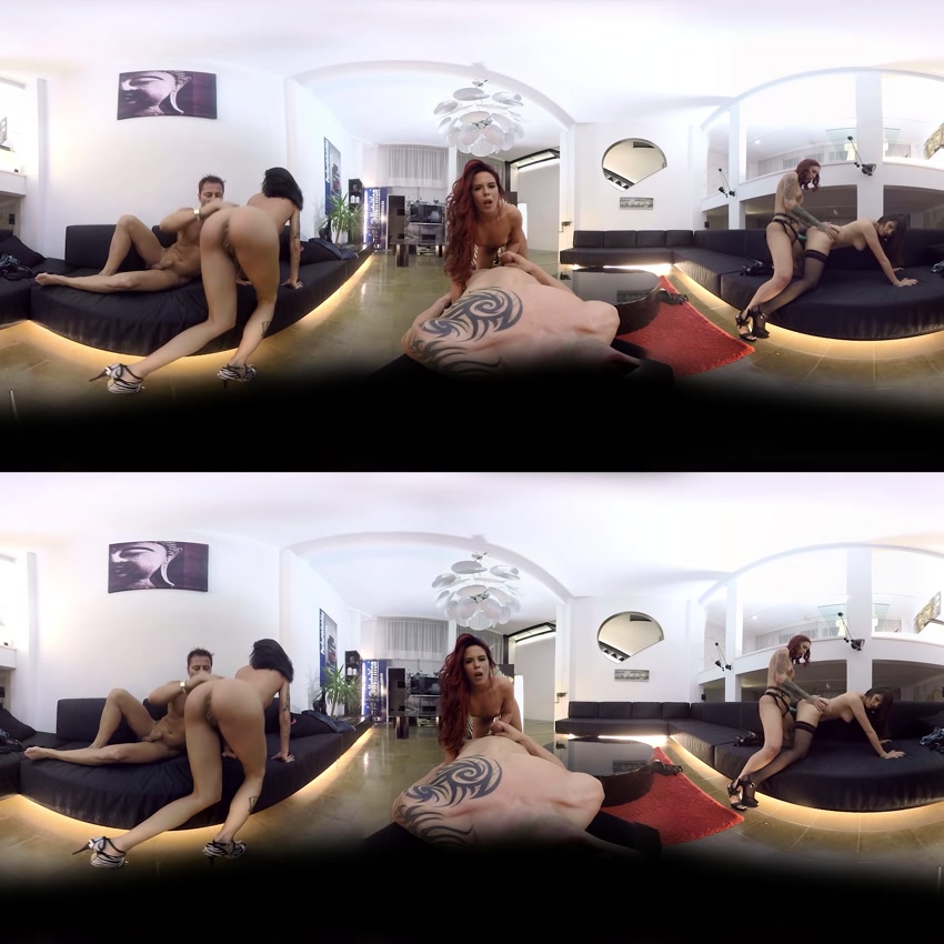 Gala Brown, Silvia Rubi, Naty Mellow, Jesyka Diamond, 15:20 min, 360vr,  3d vr porno, UltraHD, 2304p