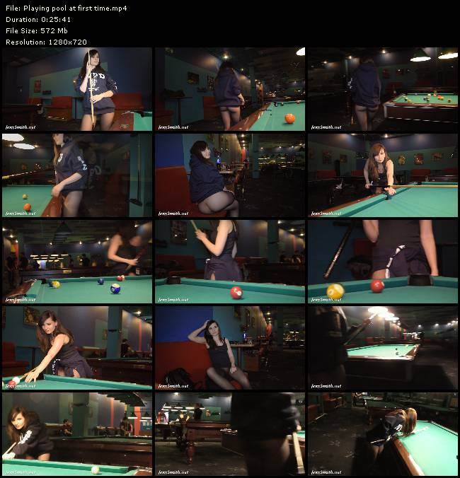 Jeny smith playing pool 6