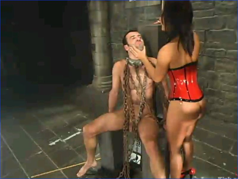 Male peeing gangbang