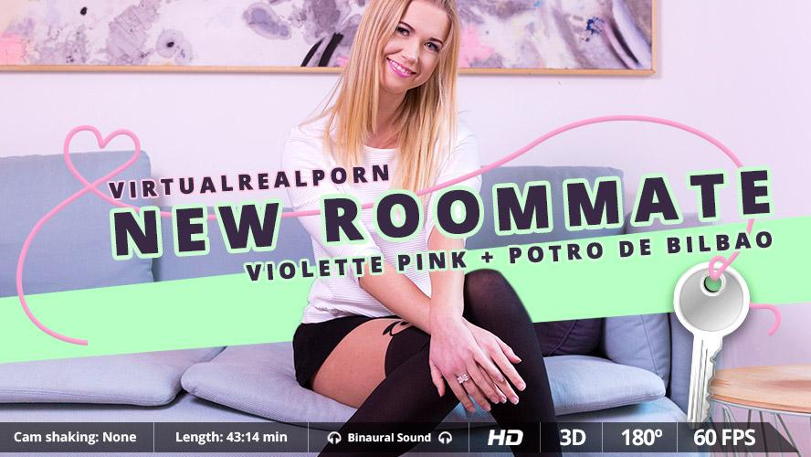 New roommate, Violette Pink, 3d vr porno, HQ 1600p