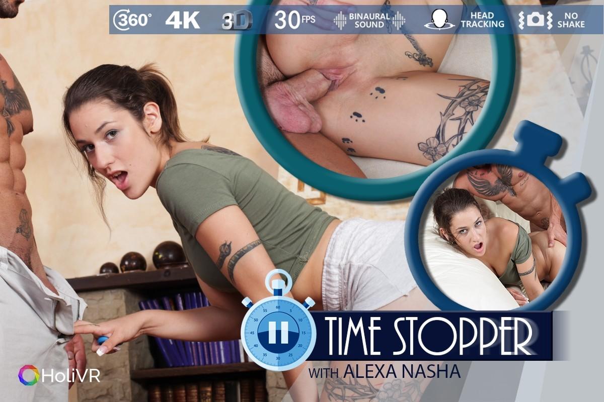 Time Stopper, Alexa Nasha,, 360 vr porno, UltraHD, 1920p