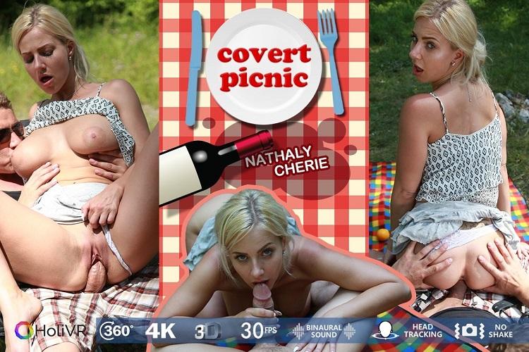 Covert Picnic, Nathaly Cherie, 360 vr porno, UltraHD, 1920p