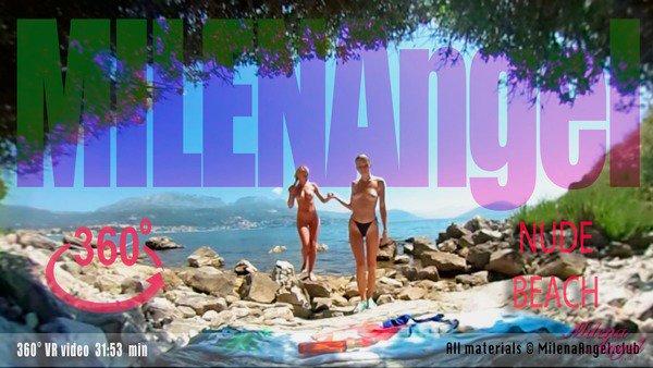 Milena Angel, Nude Beach, 3d vr porno, HD 960p