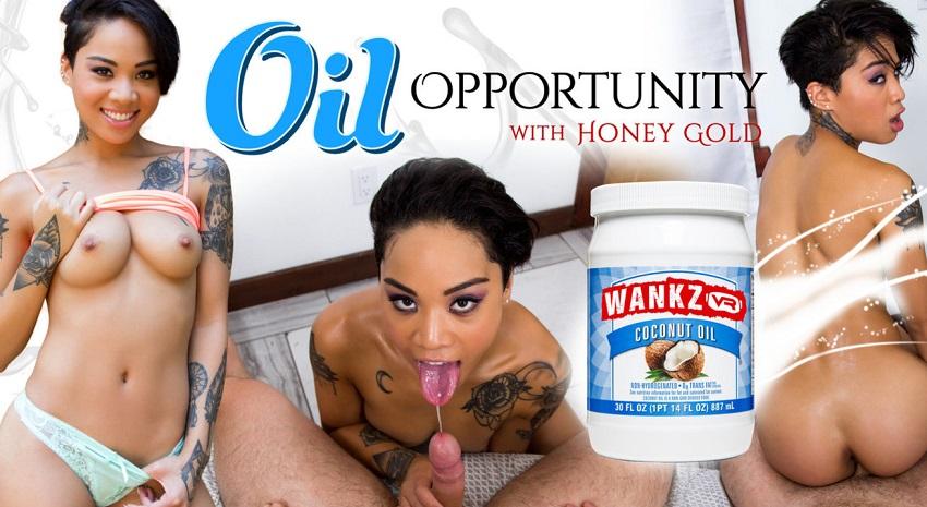 Oil Opportunity, Honey Gold, 28 Jul, 2017, 3d vr porno, HQ 1600p