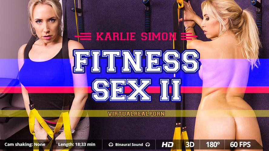 Fitness sex II, Karlie Simon, 3d vr porno, UltraHD, 1600p