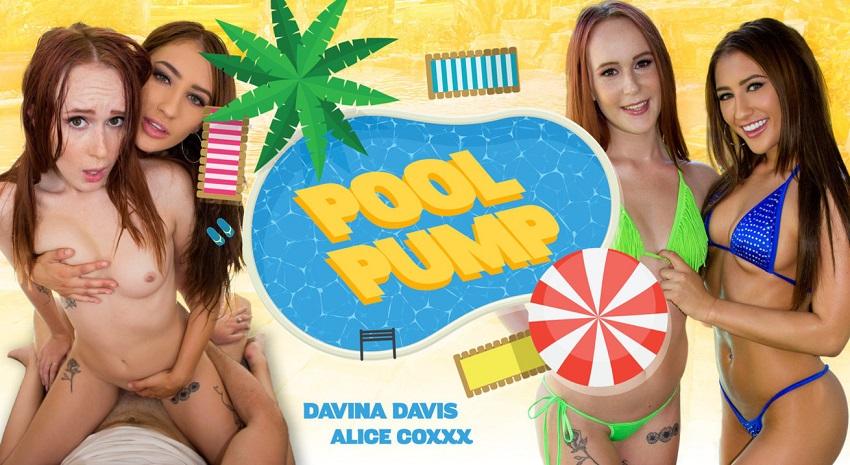 Pool Pump, Alice Coxxx and Davina Davis, 15 August, 2017, 3d vr porno, HQ 1600p