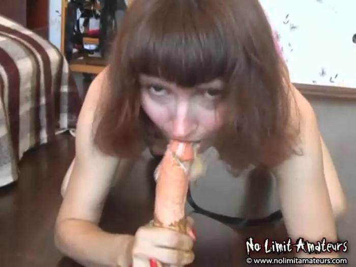 Barbara - Bizzare Amateur video - vomit and shit
