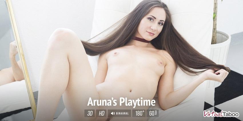 Aruna's Playtime, Aruna Aghora, Aug 22, 2017, 3d vr porno, HQ 1500p
