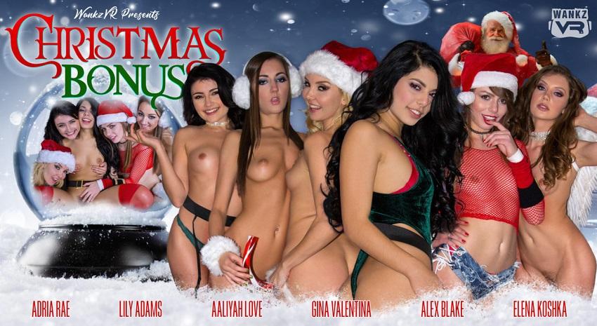Christmas Bonus, Aaliyah Love, Adria Rae, Alex Blake, Elena Koshka, Gina Valentina, Lily Adams, 22 December, 2017, 3d vr porno, HQ 1600p