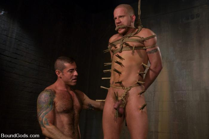 BoundGods - Nick Moretti and Luke Riley - Slicked Master and the Golden boy