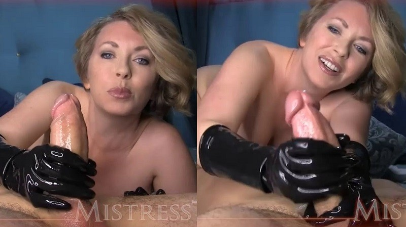 Mistress T - FemDom Rubber Glove Wank - MistressT - HD 720p