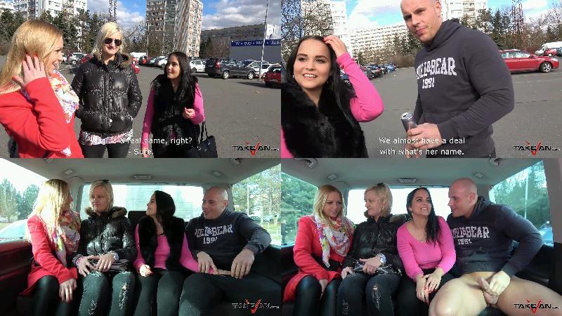 Jennifer - Girlfriends left one of them enjoy cock in driving van - Take Van - FullHD 1080p