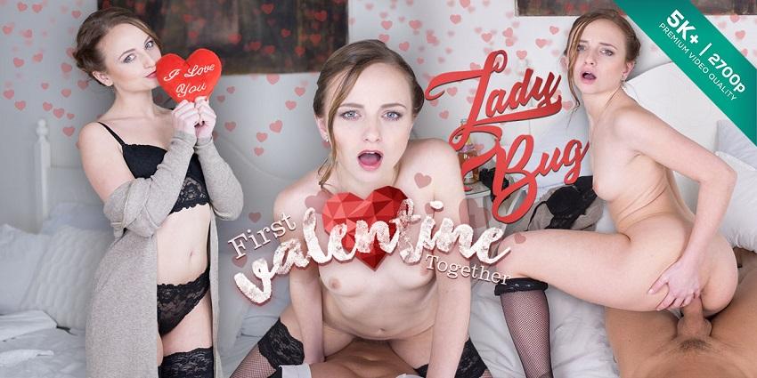 First Valentine Together, Lady Bug, Feb 13, 2018, 5k 3d vr porno, HQ 2700p