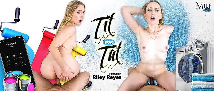 Tit For Tat, Riley Reyes, May 3, 2018, 3d vr porno, 4k 3d vr porno, HQ 2300p