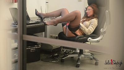 Secretary-caught-mastubating-and-hard-anal-fucked
