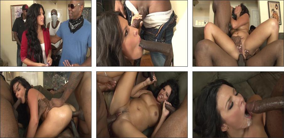 Interracial Gangbanging Sluts #5, Scene 3