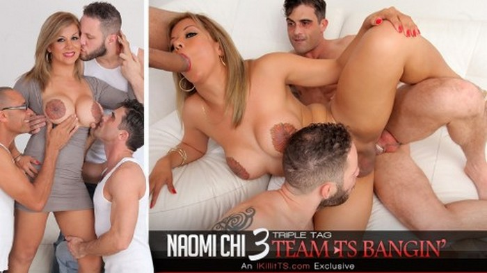 Naomi Chi - Triple Tag Team TS Bangin (HD 720p)