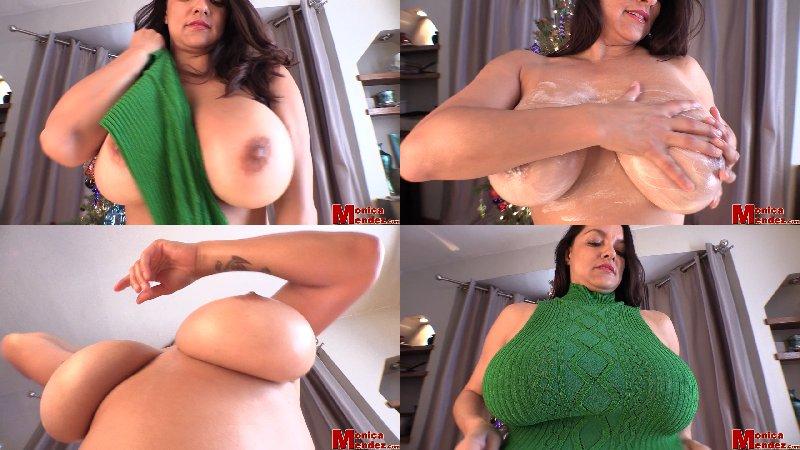 Monica Mendez - Christmas Tree Strip 2 - HD 720p