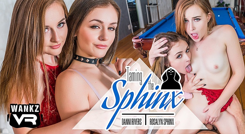 Taming The Sphinx, Danni Rivers, Rosalyn Sphinx, 14 September, 2018, 4k 3d vr porno, HQ 2300p