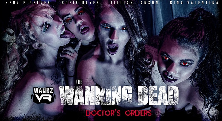 The Wanking Dead: Doctor's Orders, Gina Valentina, Jillian Janson, Kenzie Reeves, Sofie Reyez, 30 October, 2018, 4k 3d vr porno, HQ 2300p