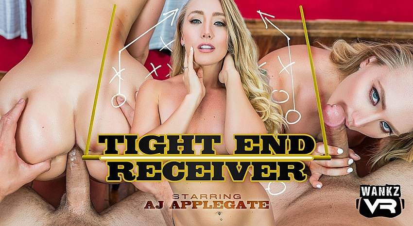 Tight End Receiver, Aj Applegate, 21 September, 2018, 4k 3d vr porno, HQ 2300p