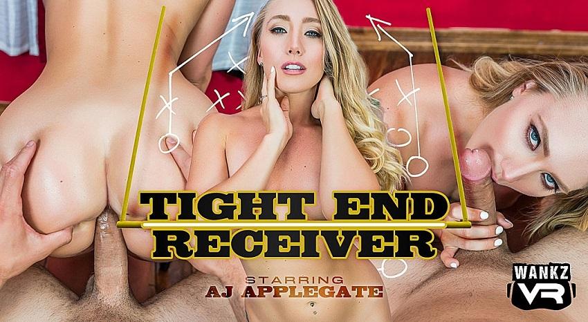 Tight End Receiver, Aj Applegate, 21 September, 2018, 4k 3d vr porno, HQ 2300p