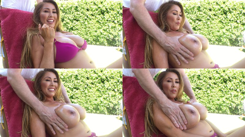 Kianna Dior - Cum Massage Warm Coconut Oil All Over My Big Soft Boobies Dont Be Shy We Wont Be Seen In My Backyard I Think - OnlyFans - FullHD 1080p