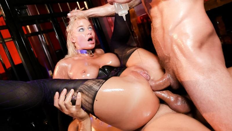London River - Londons Oily Double Anal Threesome - HD 720p