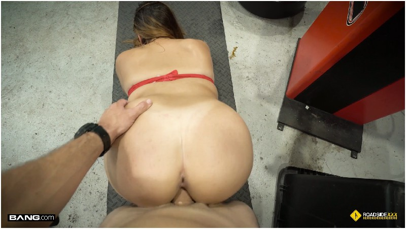 Janet - Janet Slams Her Pussy Down On A Mechanics Cock In His Garage - Bang Roadside XXX - FullHD 1080p