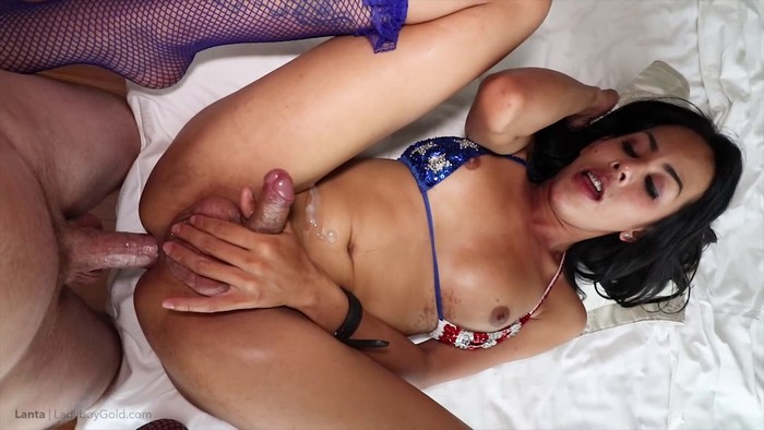 Lanta - Red, White And Blue Bikini Creamy Winker (2018 / HD 720p)