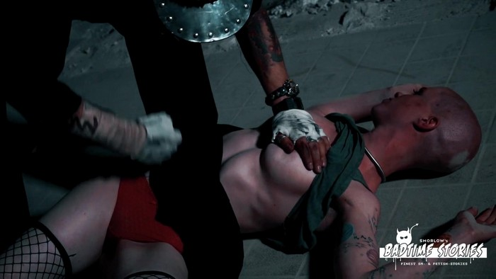 Red Used - Beautiful tattooed babe Red Used plays out extreme BDSM fantasy - Part 1 (HD 720p)