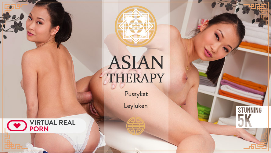 Asian therapy, Leyluken & Pussykat, Jul 05, 2018, 4k 3d vr porno, HQ 2160p