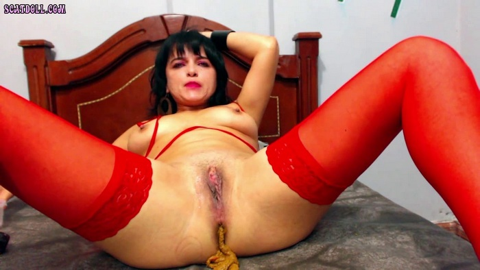 ScatDoll - Red Stockings, Dirty Game! (HD 720p)