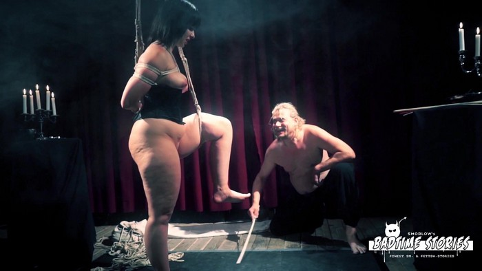Pina Deluxe - Wild bondage and torture session with chubby German slave Pina Deluxe - PT 1 (FullHD 1080p)