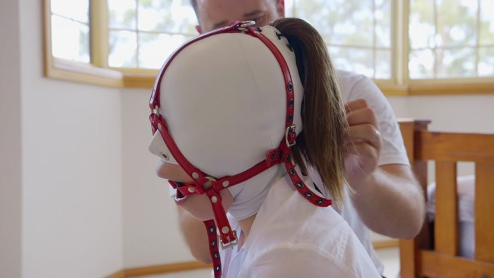 Mina - Schoolgirl Hooded Gagged and Hogtied (FullHD 1080p)