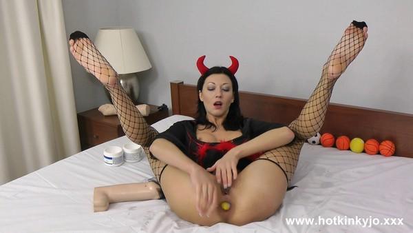 Hotkinkyjo - Devil anal play (2018 / FullHD 1080p)