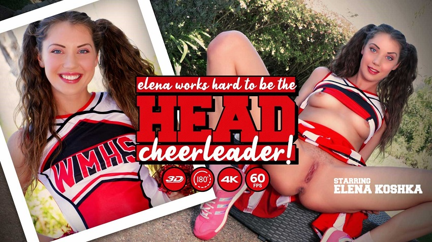 Elena Works Hard to Become the Head Cheerleader, Elena Koshka, Feb 09, 2019, 3d vr porno, HQ 2048p